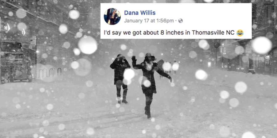 This Woman Found The Most Hilariously NSFW Way To Measure The Amount Of Snow In Her Yard