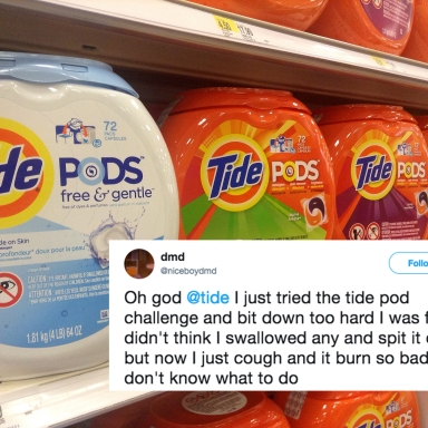 Here's How Tide Is Responding To Everyone Who's Tweeting Their Deadly Symptoms After Eating 'Tide Pods'