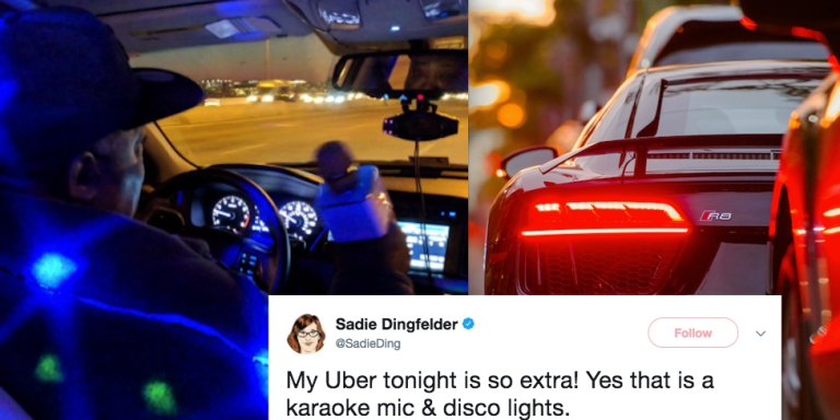 This Uber Driver Turned His Car Into A Night Club And It's LitAF