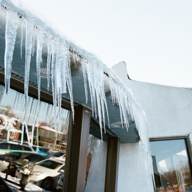 icicles on diner