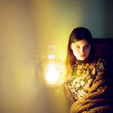 woman in dark my lamp