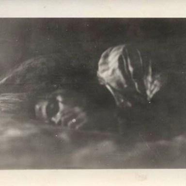 creepy sleeping woman