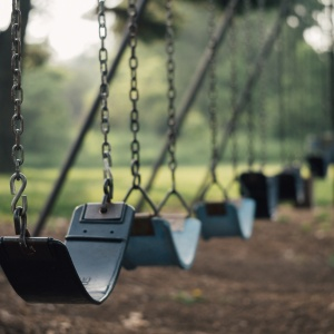swings in a park made for kids