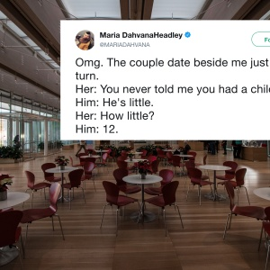 A restaurant and a tweet about a couple breaking up