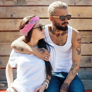 A girl with her boyfriend