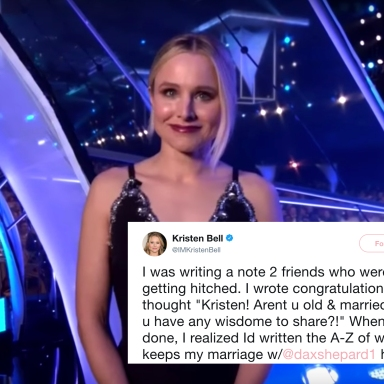 Kristen Bell Revealed The Secrets To A Long And Happy Relationship And You're Going To Want To Write These Down
