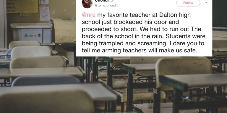 A Teacher Fired Shots In A Georgia High School And It Just Shows That Arming Faculty Isn't TheSolution