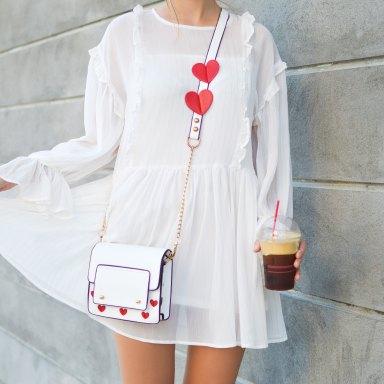 White dress iced coffee