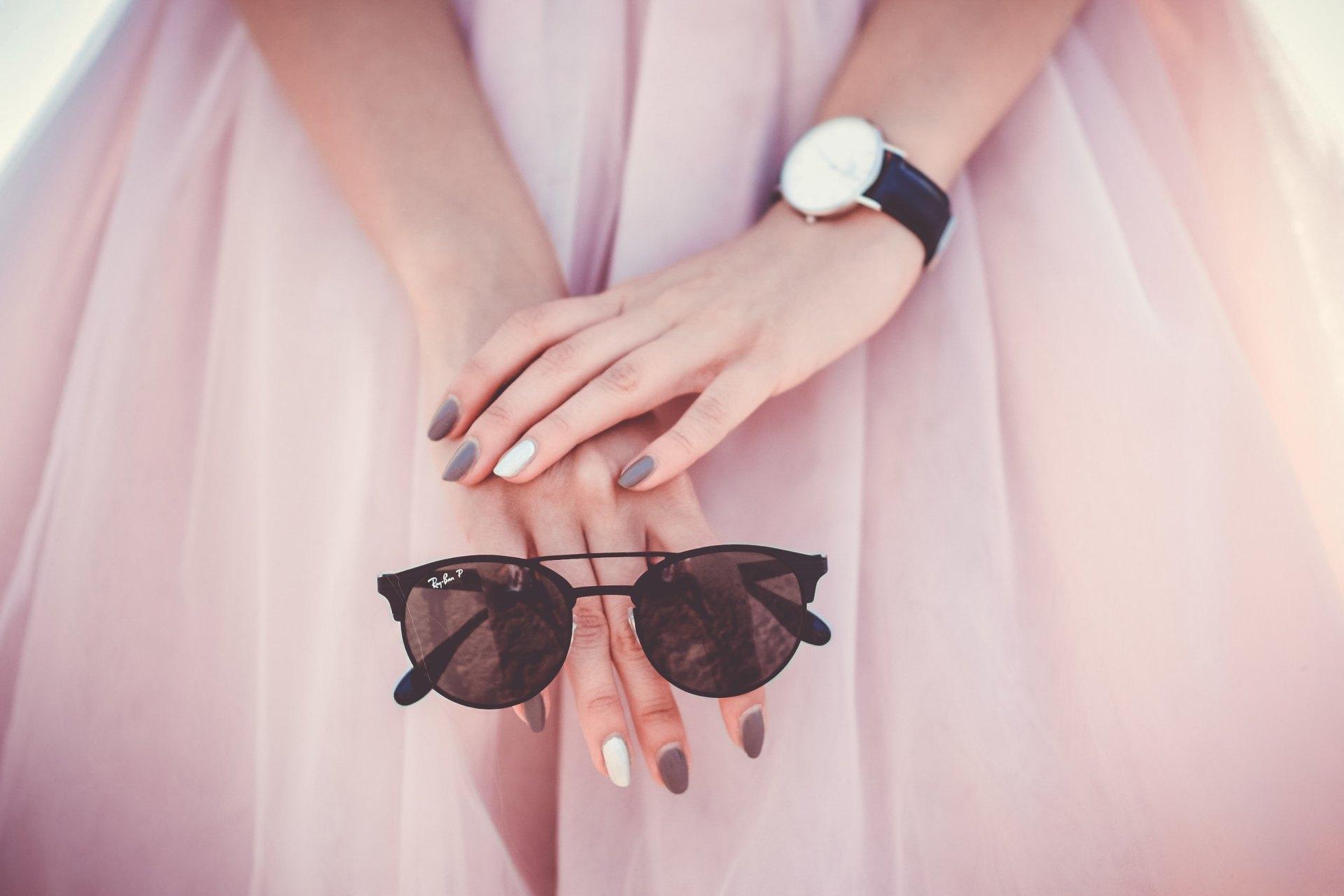 skirt glasses nail polish