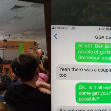A video from the Parkville, Florida shooting and a text conversation between a parent and son