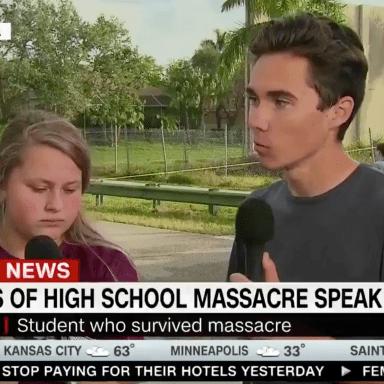David Hogg, a survivor of the Florida shooting, on CNN