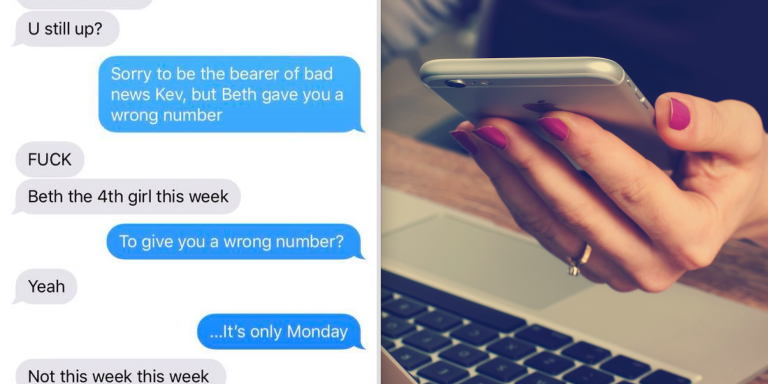 This Guy Didn't Know Why He Kept Getting Fake Numbers From Women, But One Wrong Number Text Completely Changed HisPerspective