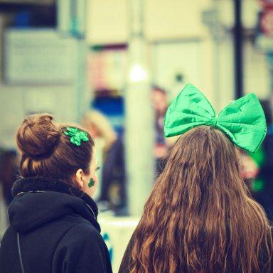 Girls on Saint Patrick's Day