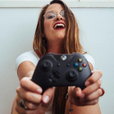 A gamer girl