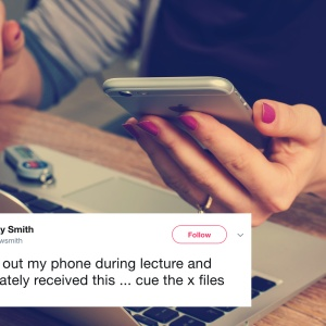 This Professor Expertly Trolled His Student For Using Her Phone During Class And It's Hilarious