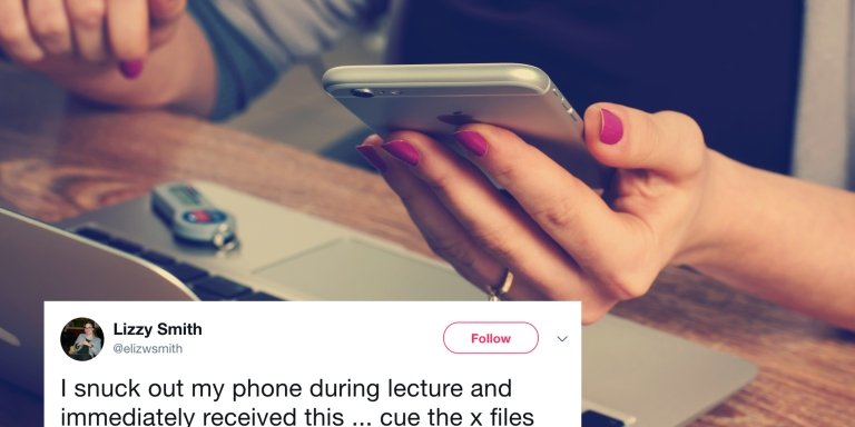 This Professor Expertly Trolled His Student For Using Her Phone During Class And It'sHilarious