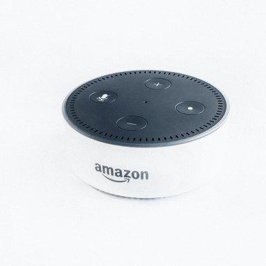 Amazon Echo on a white background