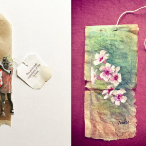 This Artist Turns Old Tea Bags Into Stunning Paintings And People On Twitter Are In Awe