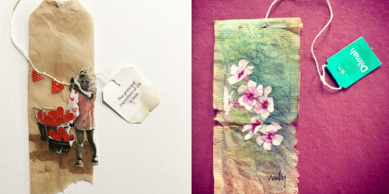 This Artist Turns Old Tea Bags Into Stunning Paintings And People On Twitter Are InAwe