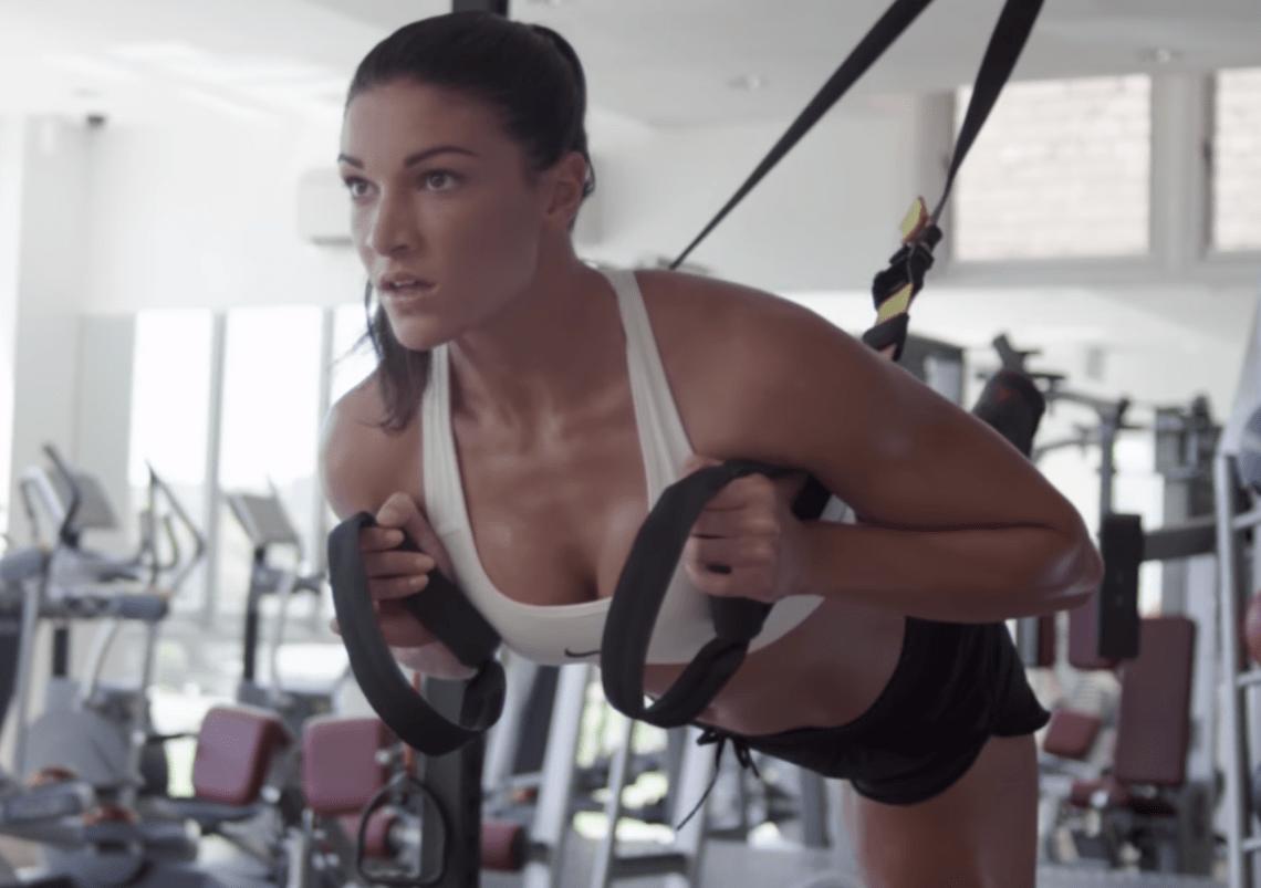 Michelle Jenneke working out in a Worldstar video