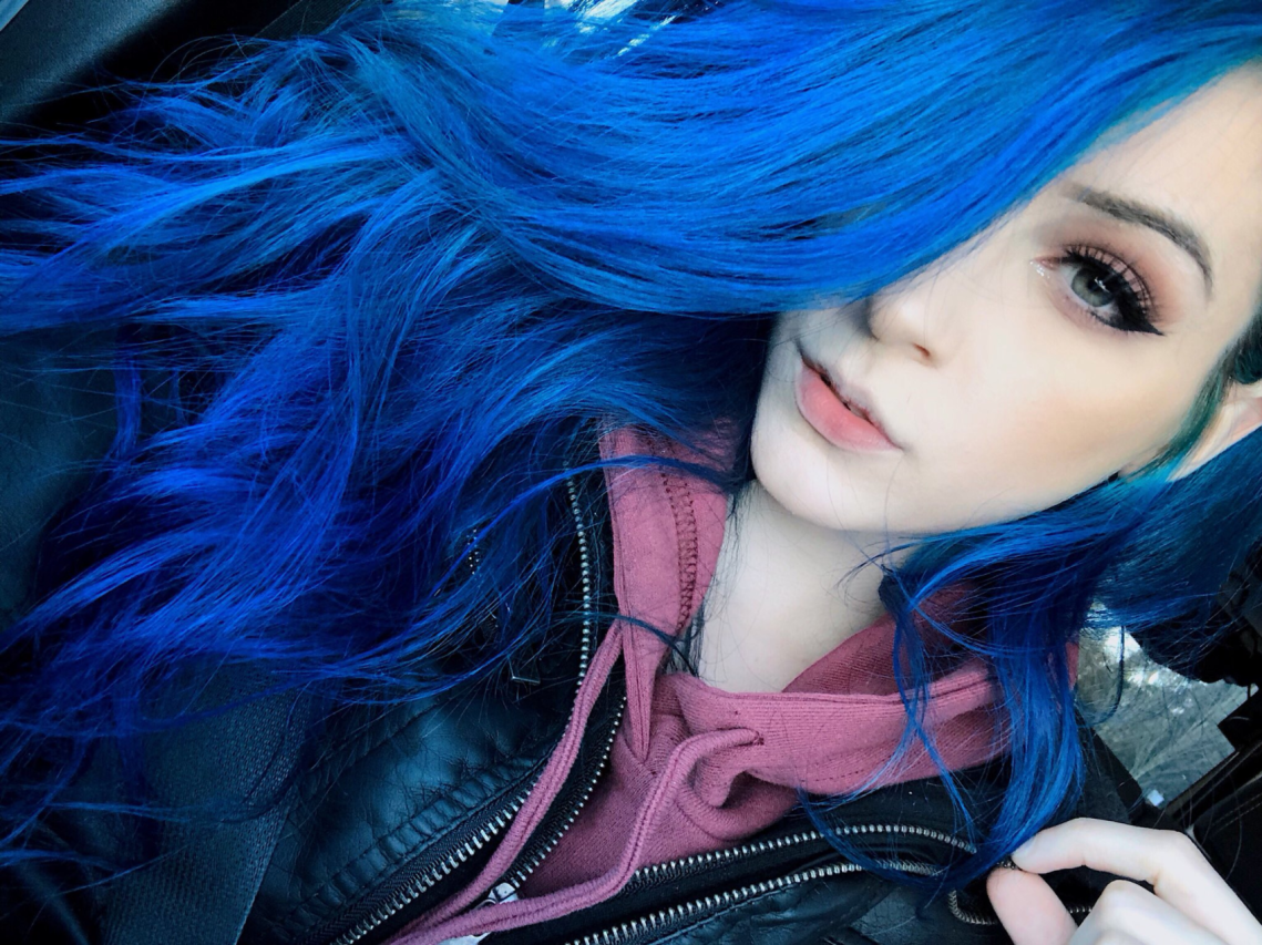 A selfie from the Twitter of cam girl Kati3kat