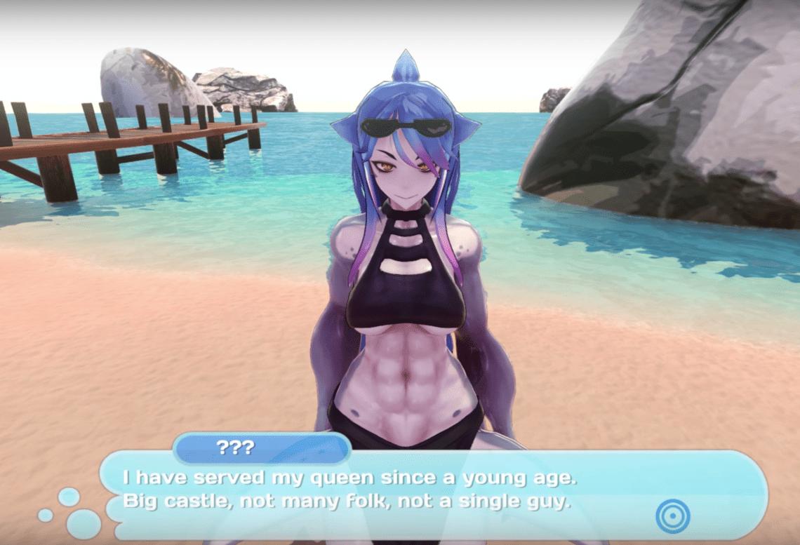 A clip of Shark Girl in Monster Girl Island demo