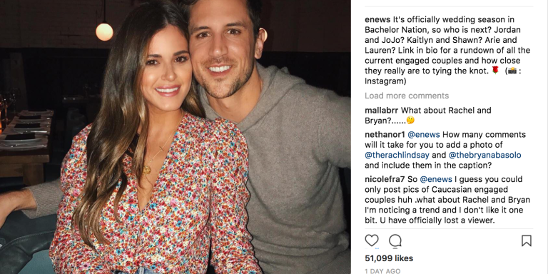 Instagram 'Bachelor' Fans Are Accusing E! News OfRacism