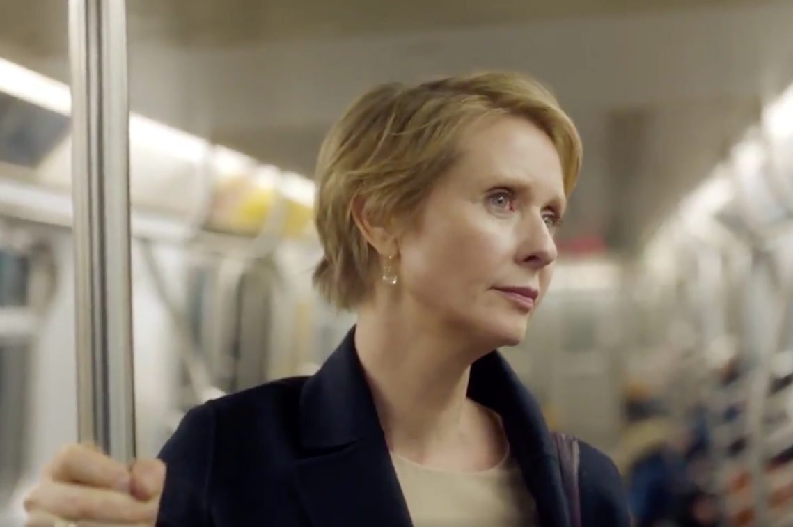 Sex and the City star Cynthia Nixon in her video announcement for candidacy for New York governor
