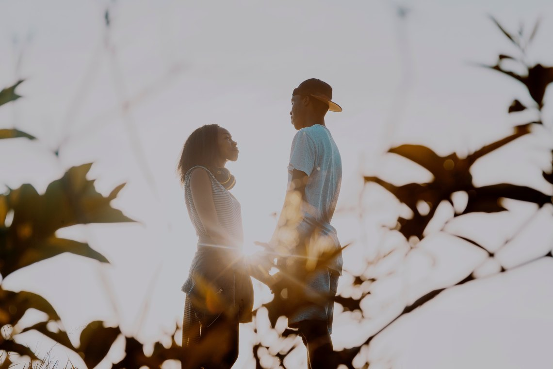 couple in the light