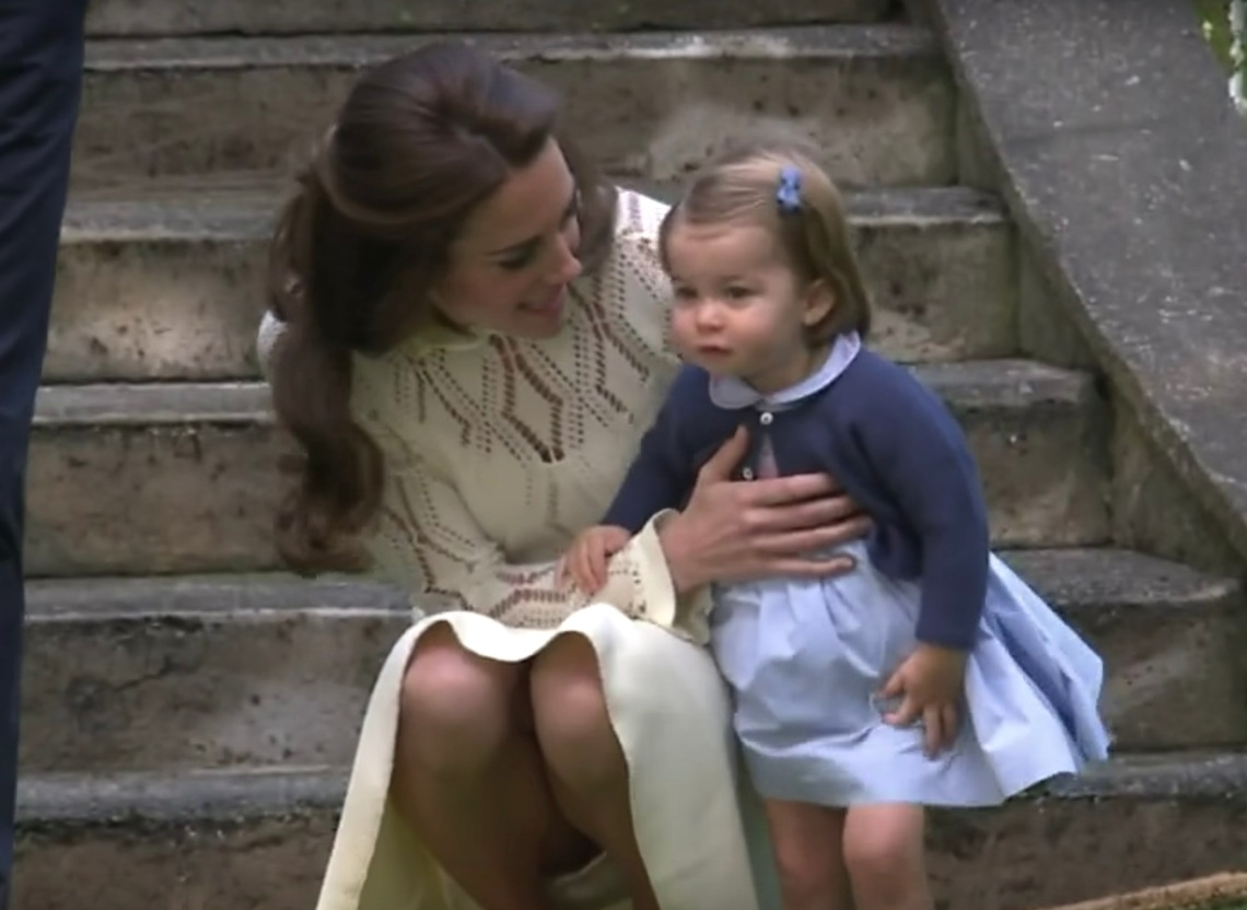 Princess Charlotte and Kate Middleton in 2016