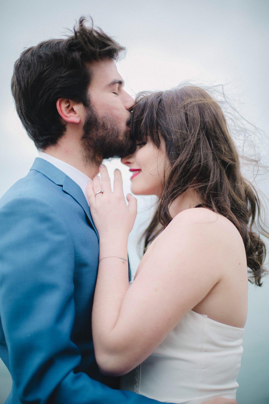 A couple at a wedding