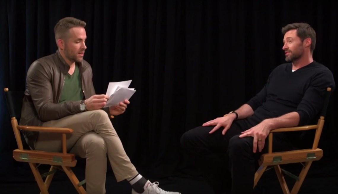 Ryan Reynolds interviews Hugh Jackman in this Youtube video