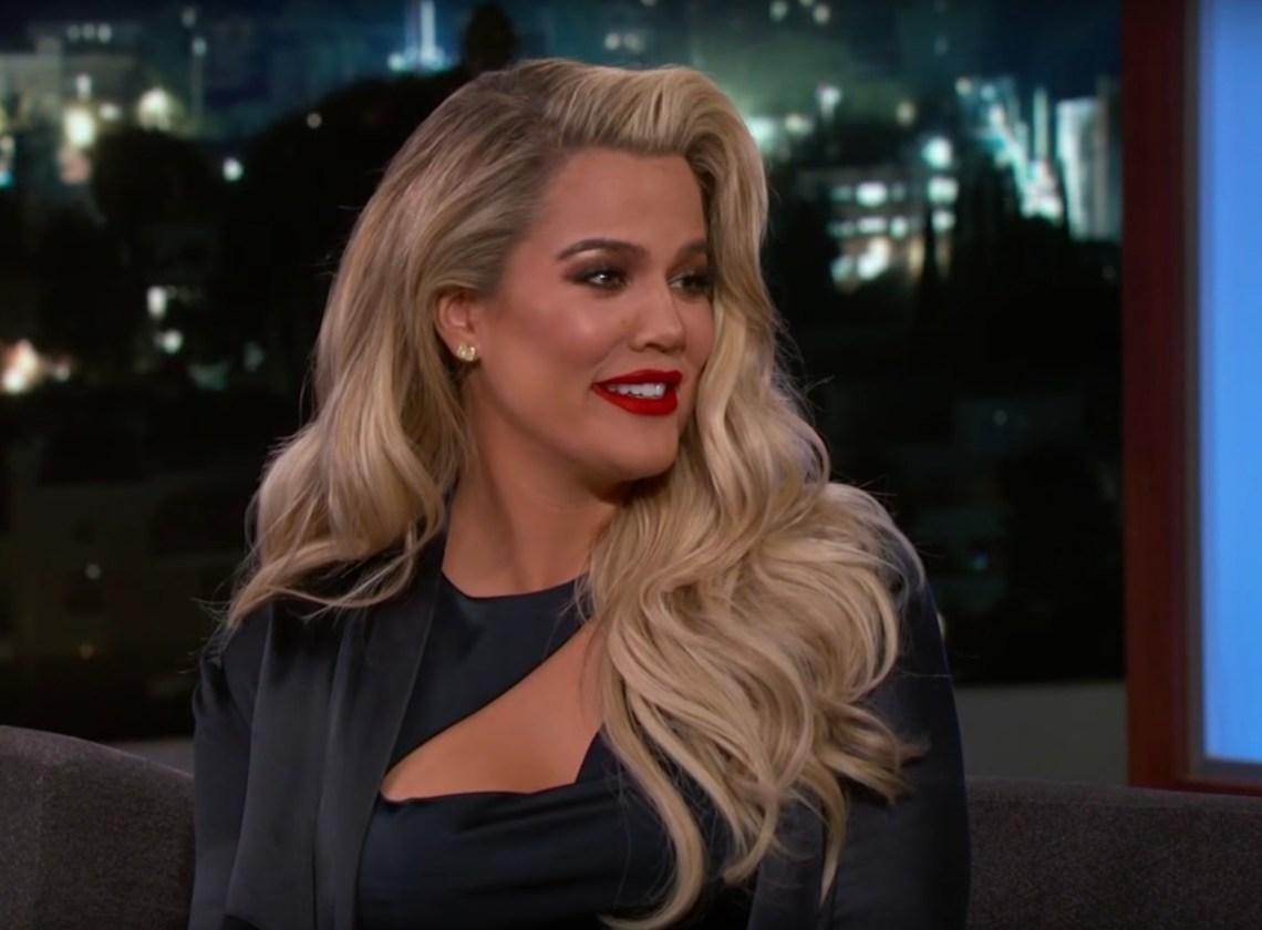 Khloe Kardashian talked about her pregnancy on Jimmy Kimmel Live