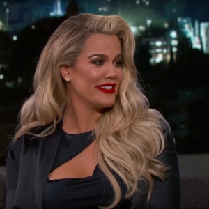 Khloe Kardashian talked about her pregnancy on Jimmy Kimmel Live
