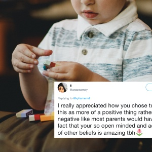 This Woman Had The Best Response When She Noticed Her Baby Brother Copying His Muslim Teachers' Habits