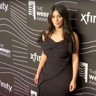 Kim Kardashian on the red carpet for the Webby Awards