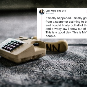 This Woman Hilariously Trolled A Phone Scammer And You'll Want To Take Notes