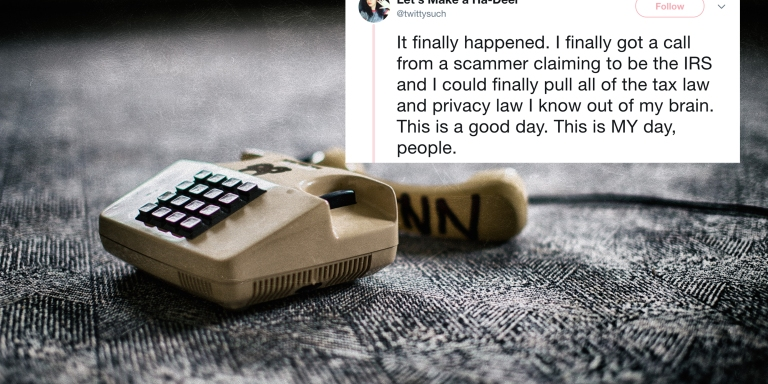 This Woman Hilariously Trolled A Phone Scammer And You'll Want To TakeNotes