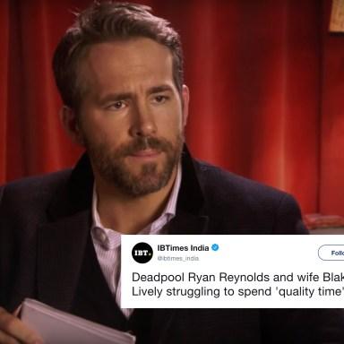 Ryan Reynolds in a video about Deadpool