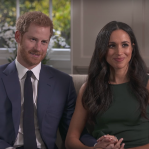 Meghan Markle and Prince Harry during their BBC engagement interview