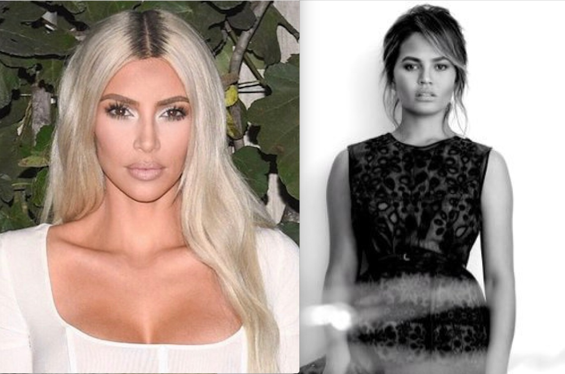 Kim Kardashian and Chrissy Teigen on Twitter