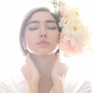 A woman admiring beauty