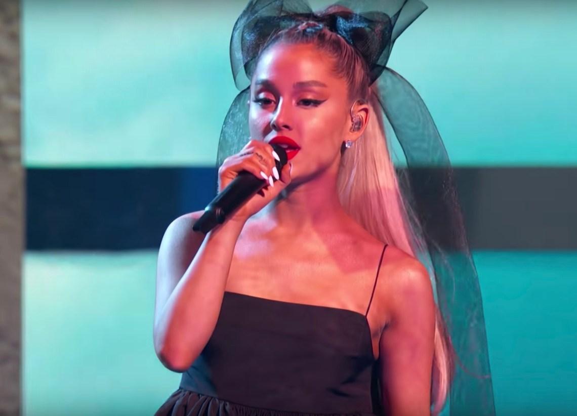 Ariana Grande performing at the Billboard Music Awards
