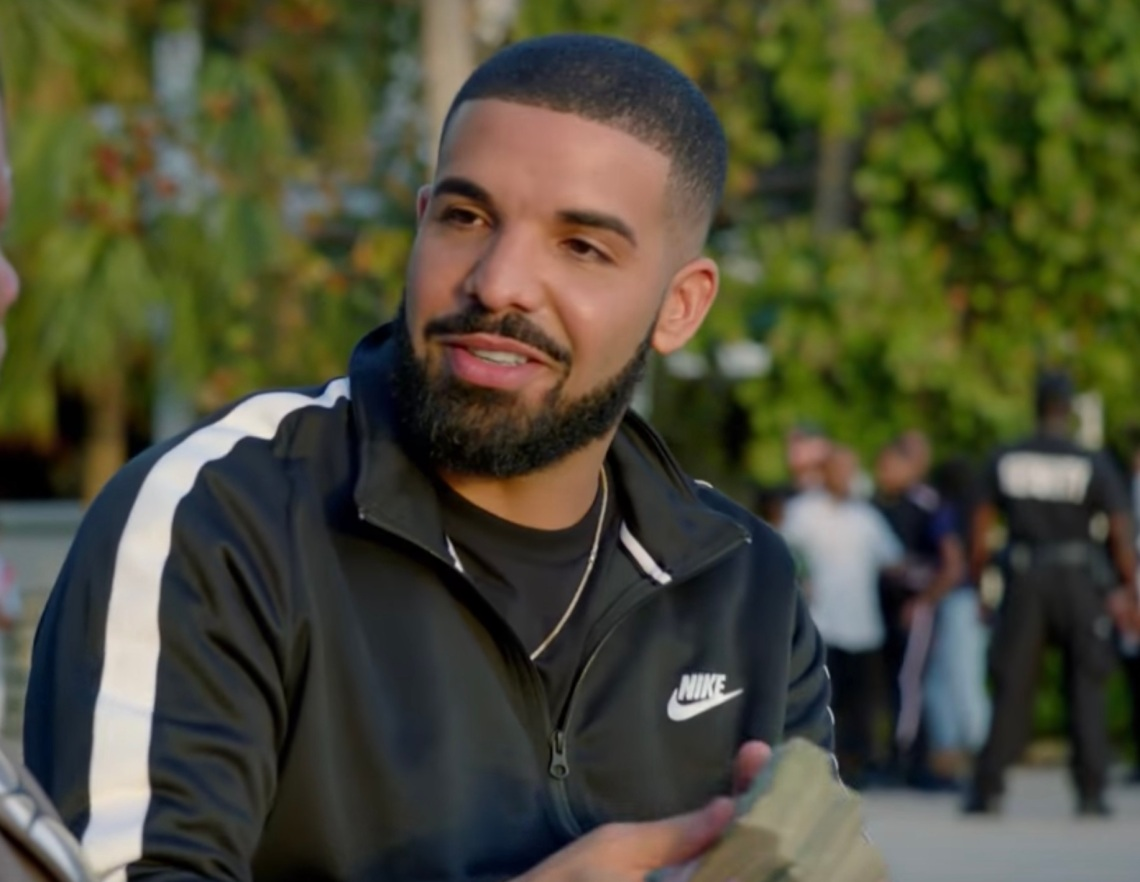 """Drake in his music video for """"God's Plan"""""""