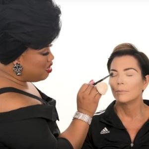 Kris Jenner and Patrick Starrr makeup tutorial
