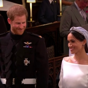 Harry and Meghan at The Royal Wedding
