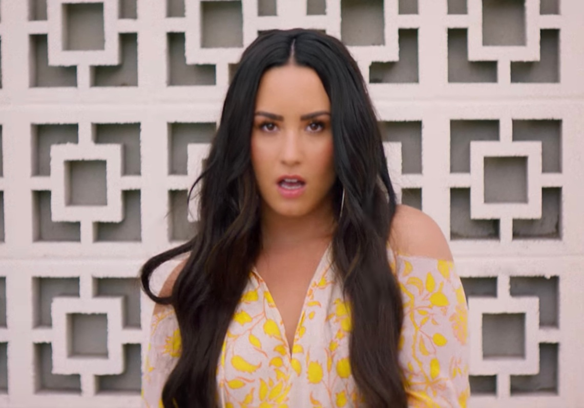 "Demi Lovato in the music video for ""Solo"""