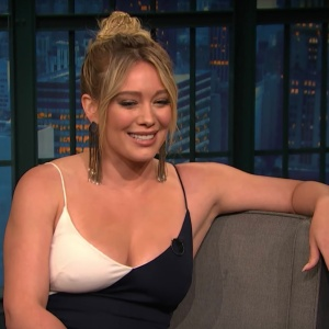Hilary Duff on Late Night With Seth Meyers