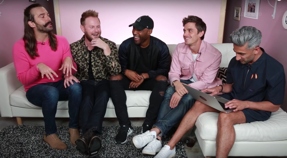 The Fab Five in a Buzzfeed video