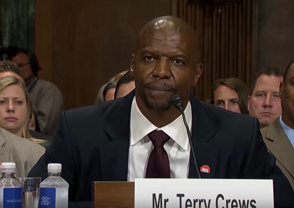 Terry Crews speaking in front of the Senate about sexual assault